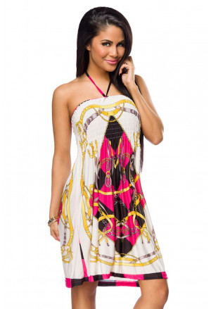 Coloured loose summer dress