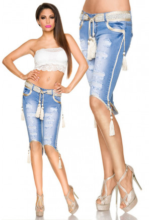 Fabulous denim capri trousers