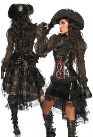 Päťvrstvová sukňa v gotickom štýle