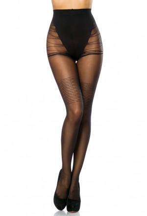 Remarkable black stockings - stripes