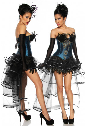The charming burlesque skirt of tulle and satin