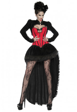 High-quality four-part vampire costume