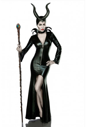 Halloweensky pompézny kostým MRS EVIL
