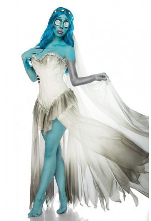 Luxusný hororový kostým mŕtvej nevesty