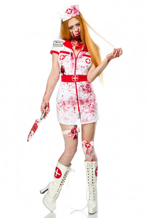 Unique horror costume ZOMBIE NURSE