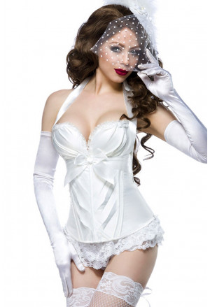 High quality white corset