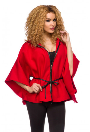 Simple cape with zip