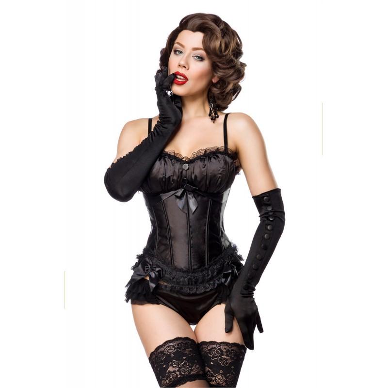 Burlesque corset - black