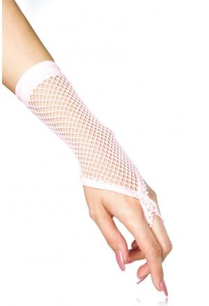 Sieťkované rukavice ružové