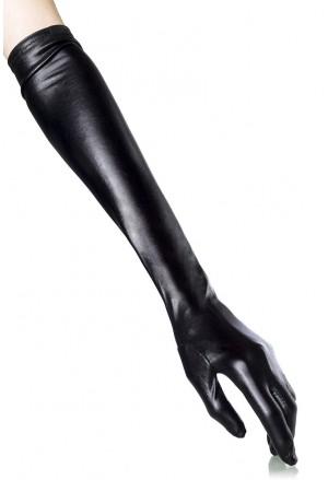 Dlhé lesklé rukavice - wet look