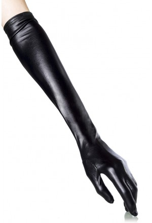 Long shiny opera gloves