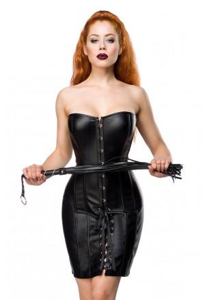 Rafinované čierne korzetové šaty