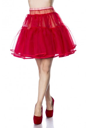 Knee lentght red underskirt Belsira