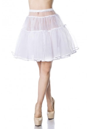 Knee lentght white underskirt Belsira
