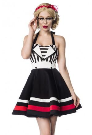 Spoločenské pinup retro čierne šaty Belsira