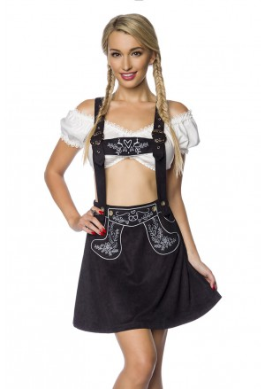 Bavarian folk dirndl skirt with embroidery