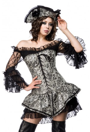 Lovely romantic pirate corset costume