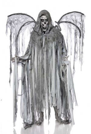 Odstrašujúci kostým maska Anjel Smrti