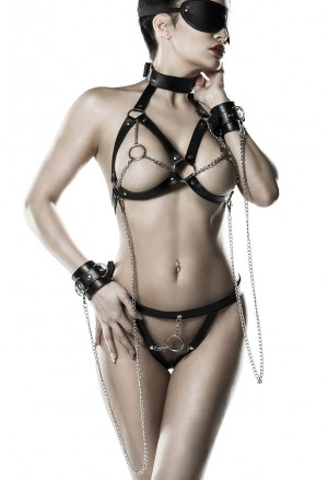 5 piece excitable bondage set from Grey Velvet