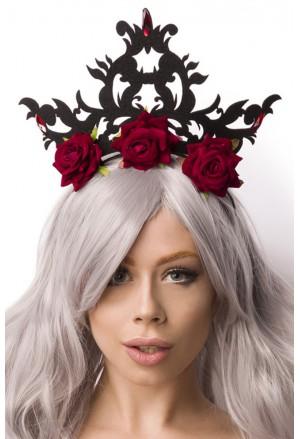 Zaujímavá čelenka Kráľovná ruží