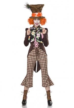 Kompletný kostým Mad Hatter Alica z krajiny zázrakov