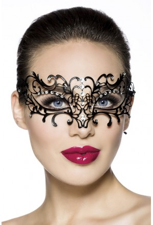Extraordinary artistic mask with rhinestones Lady