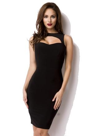 Elegantné pencil malé čierne šaty