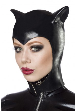 Rubber cap Catwomen with ears