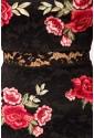 Fascinujúce dlhé čipkované šaty s ružami