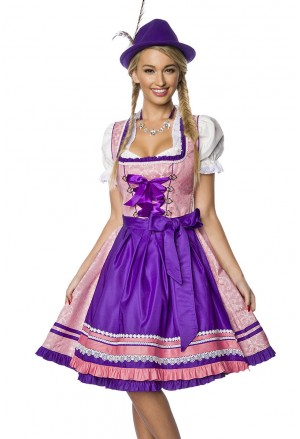 Brocade modern folk costume dress