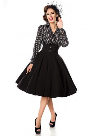 Elegantná čierna spoločenská retro sukňa Belsira