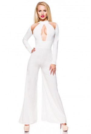 Hollywood star extravagant white overall