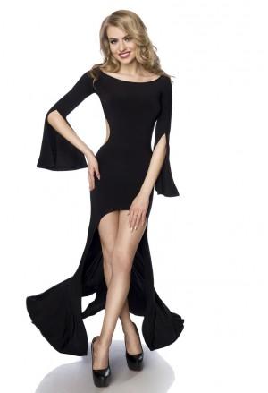 Dlhé zvodné čierne šaty Saresia