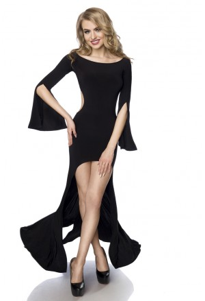 Maxi seductive black dress Saresia