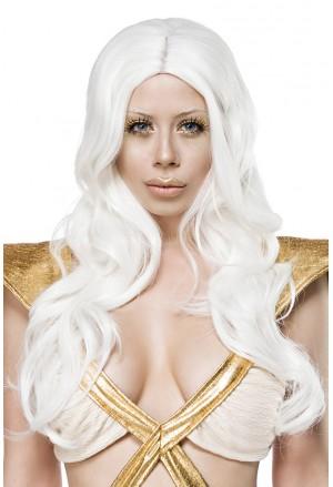 Space white hair long wig
