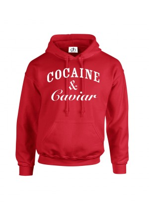 Men hoodie with print Cocaine and Caviar