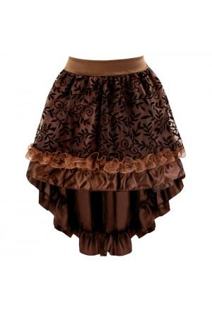 Hnedá gotická sukňa z čipky