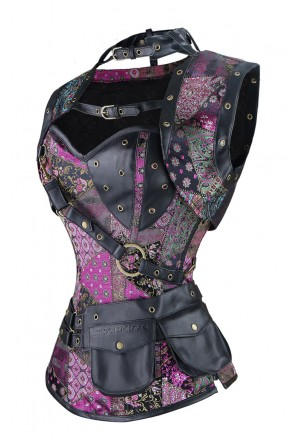 Sophisticated steampunk corset with vest COLOR EXCLUSIVE