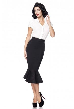 Retro sukňa s volánom a la Marilyn - čierna