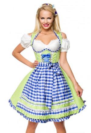 Kockované dirndl krojované šaty