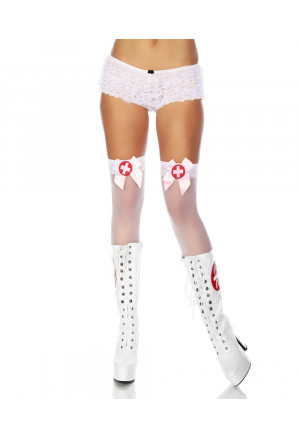 First aid white stockings