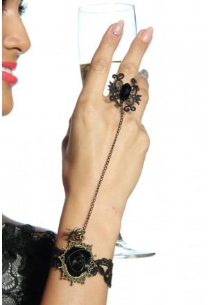Stylish black bracelet in gothic style