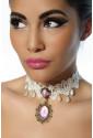 Elegant gothic necklace with rose