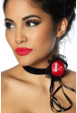 Gothic necklace RED ROSE