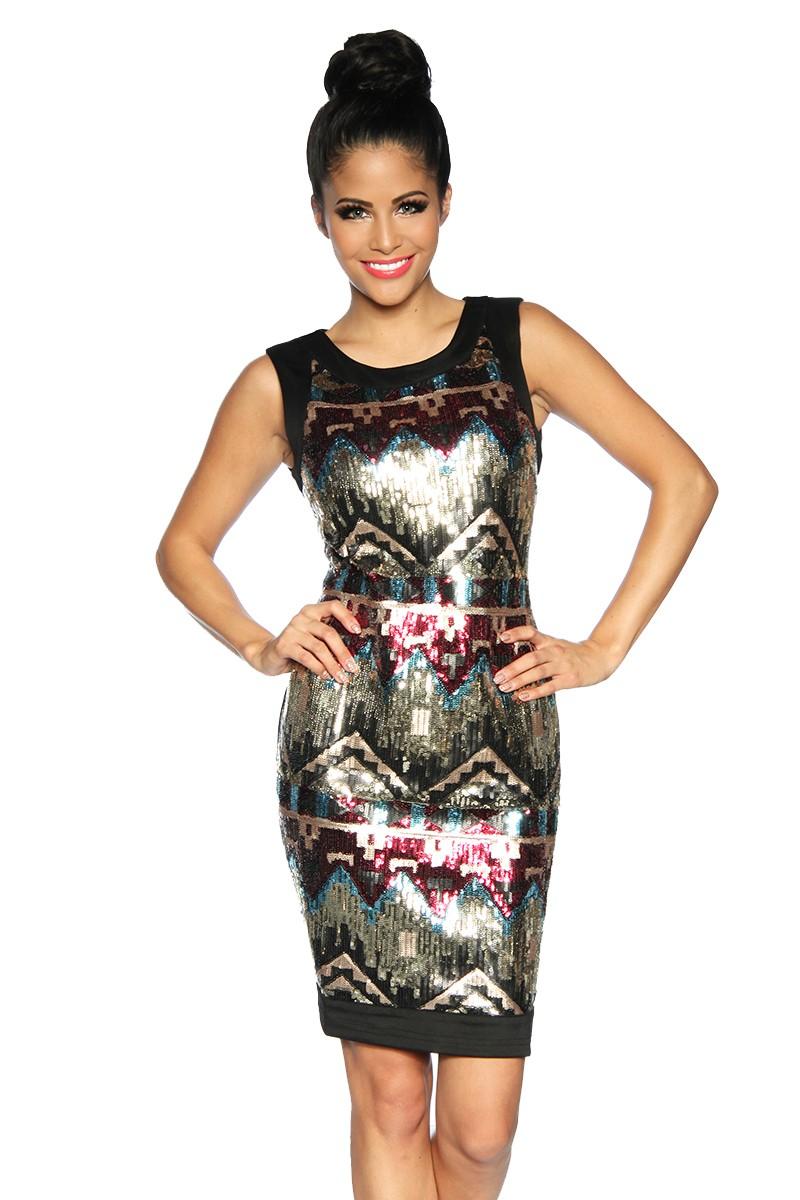 Trblietavé Diva spoločenské šaty AZTEC - SELECTAFASHION.COM 381d5f0ed8e