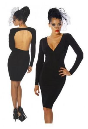 Elegantné a jednoduché čierne šaty
