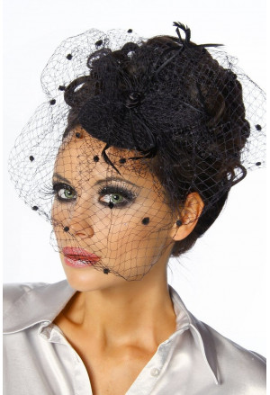 Women retro fascinator
