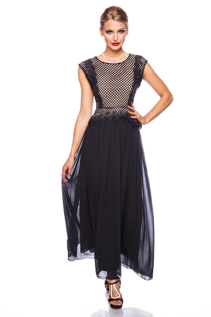 Dlhé večerné šaty s kvetinovou výšivkou - SELECTAFASHION.COM 4edd620e97d