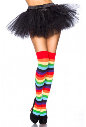 Warm playful over knee socks