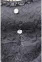 Čierny spoločenský korzet Agata